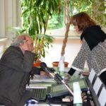 Il Direttore Editoriale di VITA Magazine, Riccardo Bonacina e la presidente di Anffas Milano Onlus, Rossella Collina