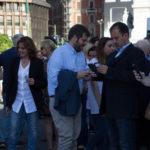 La Presidente Collina, l'Assessore Majorino, il portavoce FTS Petracca