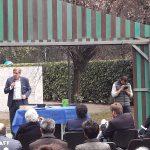 Il Presidente del Municipio 5 di Milano, Alessandro Bramati, durante il suo intervento