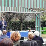 Il Presidente del Consiglio Comunale di Milano, Lamberto Bertolè, durante il suo intervento