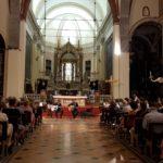 I musiciti, Simone Fraschini e Gianluca Beltrame, durante la loro esibizione