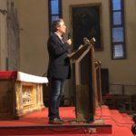 Il Dottor Alberto Camuri, del Rotary Club San Donato Milanese, durante il suo discorso iniziale